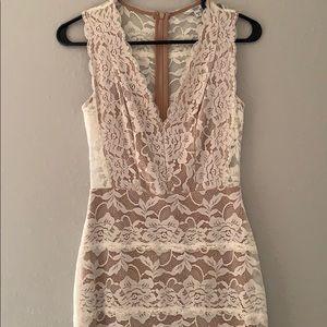 GUESS lace illusion dress